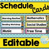 Schedule Cards {EDITABLE}