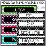 Black and Brights Schedule Cards EDITABLE