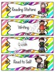 Schedule Cards: EDITABLE! - 62 Activties! {Bright Stripes}
