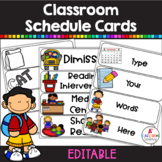 Schedule Cards EDITABLE (Black & White and Color)