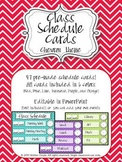 Chevron Editable Class Schedule Cards