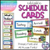 Editable Schedule Cards {Watercolor Rainbow}