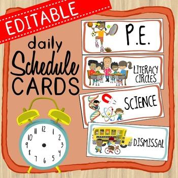 Schedule Cards * Editable *