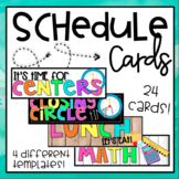 Schedule Cards (Editable)