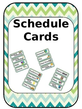 Schedule Cards [Editable]