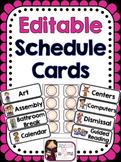 Schedule Cards - Editable