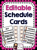 Schedule Cards - Editable