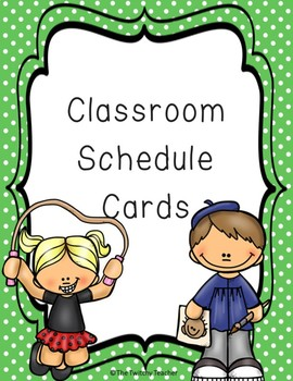 Schedule Cards *Editable