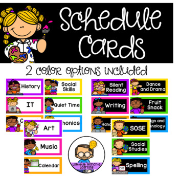 Schedule Cards - Extra cards made at no additional cost
