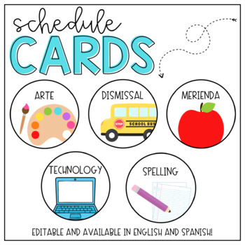 Schedule Cards- Editable