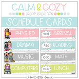 Schedule Cards {Editable} - Calm & Cozy Collection