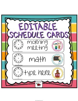 Schedule Cards (Editable) Chevron