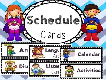 Schedule Cards *Editable*New*