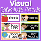 Schedule Cards - Editable - Visual Daily Timetable