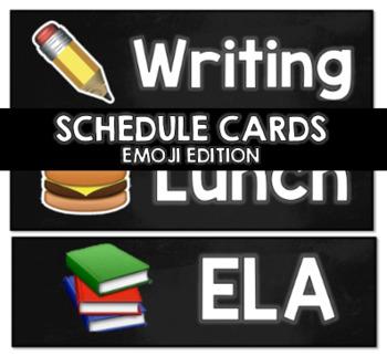 Schedule Cards (Emoji Edition) EDITABLE