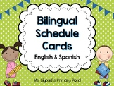Bilingual Schedule Cards (English and Spanish)