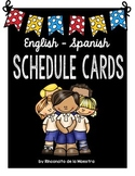 Schedule Cards - English/Spanish