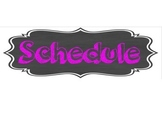 Schedule Cards FREE