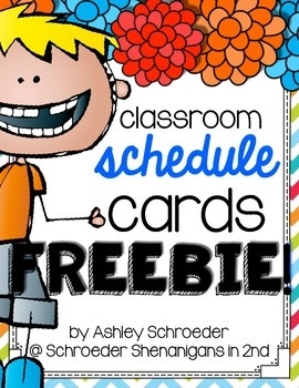 schedule cards freebie by schroeder shenanigans in 2nd tpt