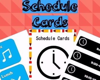 Schedule Cards *FREEBIE* *EDITABLE*