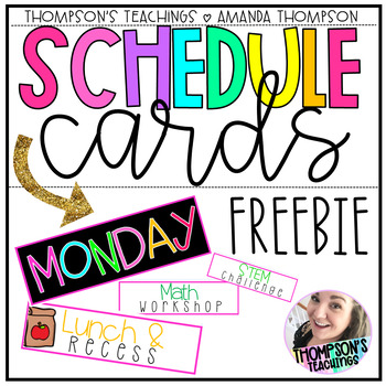 Schedule Cards- FREEBIE- over 125 cards!