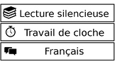 Schedule Cards - FRENCH - EDITABLE