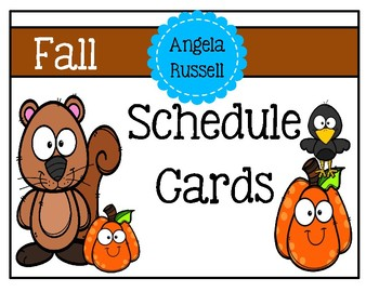 Schedule Cards - Fall