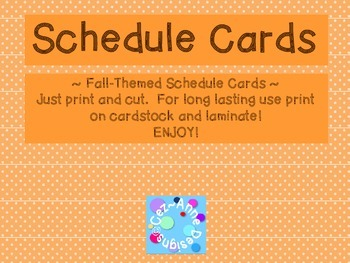 Labels - Schedule Cards ~ Fall Theme