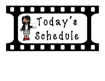 Schedule Cards~Film Strip Themed [EDITABLE!!]