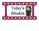 Schedule Cards~Film Strip Themed