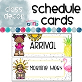Schedule Cards Flamingos and Pineapples