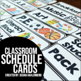 Schedule Cards {Freebie}