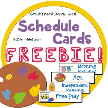 Schedule Cards Freebie and Growing Pack!