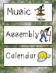 Schedule Cards! Gnome Theme! 45 Different Cards, Plus One EDITABLE Page!