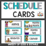 Schedule Cards Gray and Teal