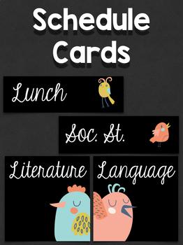 Schedule Cards: Happy Birds