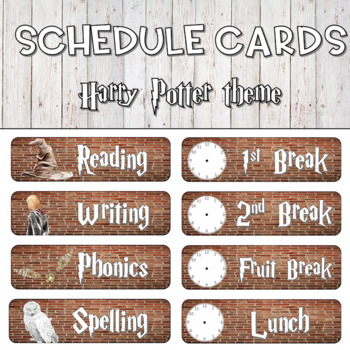 Schedule Cards - Harry Potter Theme