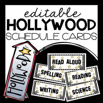 EDITABLE Schedule Cards (Hollywood Theme)