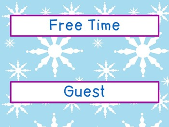 Labels - Schedule Cards ~ January Theme