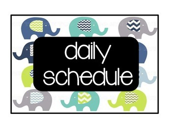 Schedule Cards: Lime, Turquoise, Grey, Black