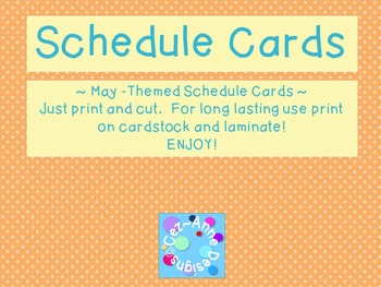 Labels - Schedule Cards ~ May Theme