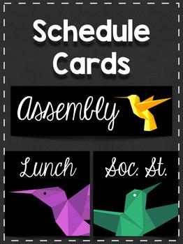 Schedule Cards: Minimalist Birds