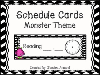 Schedule Cards Monster Theme