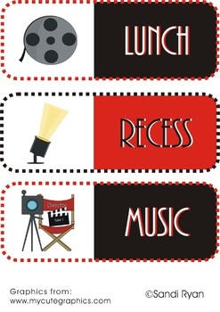 Schedule Cards - Movies/Movie Star/Hollywood