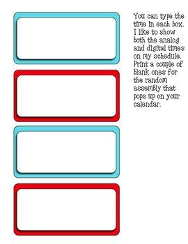 Schedule Cards - Print -Multi Dots