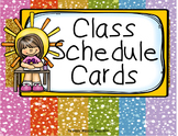 Schedule Cards - Multi Glitzy (incl. editable items)