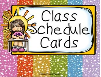 Schedule Cards - Multi Glitzy (incl. editable items)