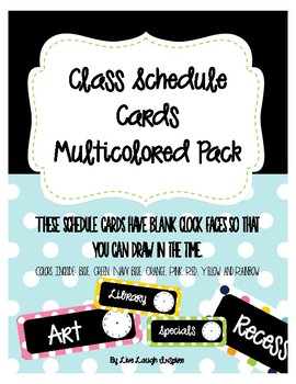 Schedule Cards Multicolored Pack