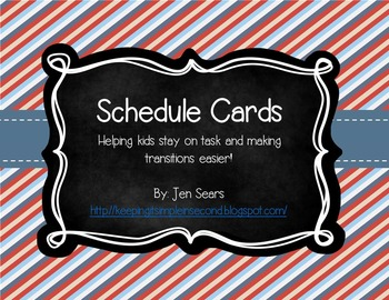 Schedule Cards (Nautical Theme)