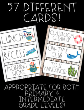 Schedule Cards! Nautical Theme! 45 Different Cards, Plus One EDITABLE Page!